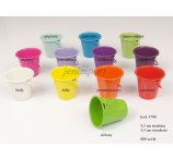 METAL BUCKET 4,5 CM  MIX COLORS