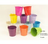METAL 13 CM BUCKET 12 COLORS- 2 LINIE