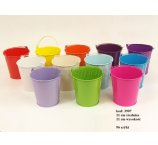 METAL 11 CM BUCKET 12 COLORS NO DESIGN