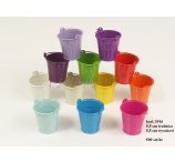 METAL 5,5 CM BUCKET 10 COLOR 2 LINES no white and lavenda violet, green and pink