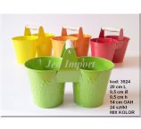 THE 2 FLOWER- POT COLOR 20 CM