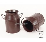BROWN ZINC  BUCKET 18 CM H