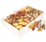 ASSORTED 5 SAMPLES DRIED  FLOWERS  AND PLANTER X 20 PC=100 PC TRAY