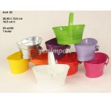 ZINC BASKETS 8 COLORS 20,5 CM X 13,5 CM WITH HANDLE w/out dark violet