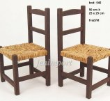 WOODEN baby CHAIR DARK BROWN 50 CM