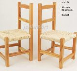 WOODEN CHAIR NATURAL COLOR 50 CM