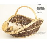 FULL WILLOW BASKET 68 CM FOR FIRE PLACE
