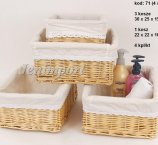 WILLOW BASKET 30 cm  SET / 4 PC