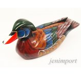 DUCK FROM EXOTIC WOOD 35 cm
