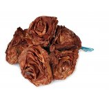 brown color Rose made from dried magnolia leafs 7-8 cm
