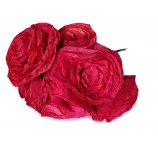 dark-red color Rose made from dried magnolia leafs 7-8 cm