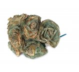 olive color Rose made from dried magnolia leafs 7-8 cm